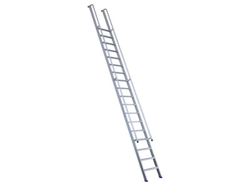 ERNST – Enkele ladder met leuning, overstek en anti-slip, 60 cm breed